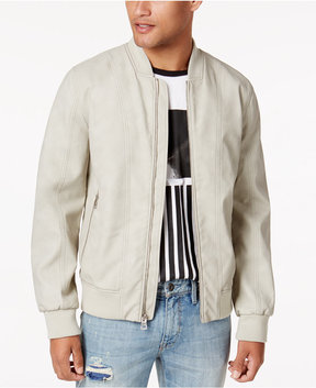 GUESS Men's Suede Bomber Jacket