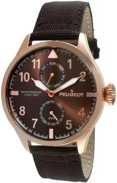 Peugeot Mens Rose-Tone Aviator Watch 2044RBR