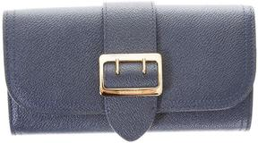 Burberry Leather Wallet With Metal Buckle - BLU - STYLE
