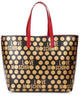 Love Moschino Dot Printed Tote