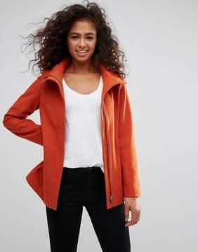 Esprit Zip Front Wool Coat
