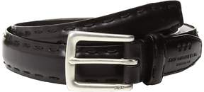 John Varvatos Feather Edge w/ Pick-Stitch Belt Men's Belts