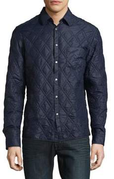 BOSS GREEN Quilted Button-Down Jacket