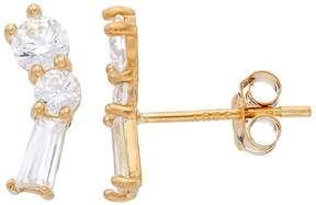 N. Gold Ice Gold 'N' Ice 10k Gold Cubic Zirconia Constellation Stud Earrings