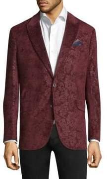 Robert Graham Spruce Paisley Notch Lapels Jacket