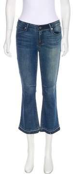 RtA Denim Low-Rise Wide-Leg Jeans
