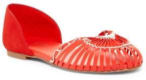 Fergie Nickel Woven d'Orsay Flat