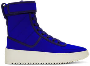 Fear Of God Blue Military High-Top Sneakers