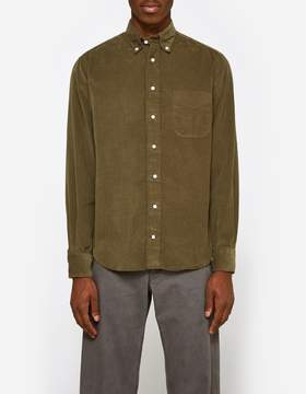 Gitman Brothers Corduroy Shirt in Olive
