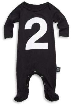 Nununu Baby's Number Cotton Footie