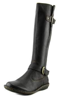 b.ø.c. Faye Round Toe Leather Knee High Boot.