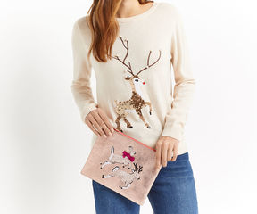 Oasis Reindeer Embellished Pouch