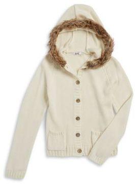 Dex Girl's Faux Fur-Trimmed Sweater