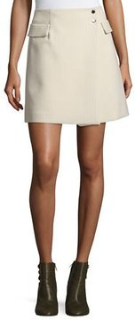 Armani Jeans Crepe Wrap Skirt, Cream