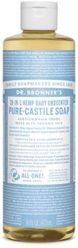 Dr. Bronner's Baby Unscented Castile Liquid Soap by 16floz Liquid Soap)