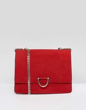 MANGO Gold Clasp Shoulder Bag