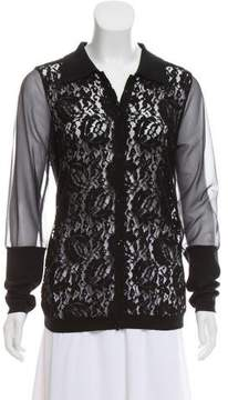Antonio Marras Lace-Paneled Knit Top