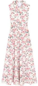 Emilia Wickstead Floral-Print Cloqué Midi Dress