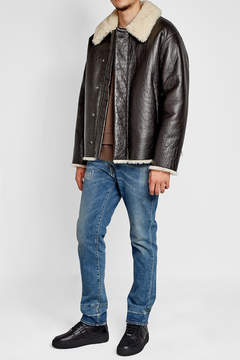 Jil Sander Leather Jacket with Shearling