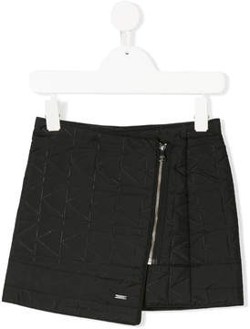 Karl Lagerfeld side-zip quilted skirt