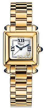 Chopard Happy Sport White Dial Gold Stainless Steel Ladies Quartz Watch