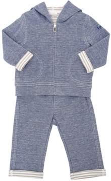 Il Gufo Bonded Piqué & Jersey Sweatshirt & Pants