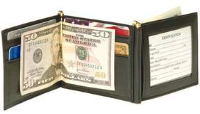 Royce Leather Men's Double Money Clip Bifold Wallet in Genuine Leather