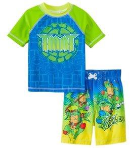 Nickelodeon Boys' Teenage Mutant Ninja Turtles Swim Trunks & Rashguard Set (2T4T) - 8147452