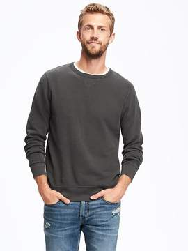 Old Navy Garment-Washed Fleece Crew-Neck Sweatshirt for Men