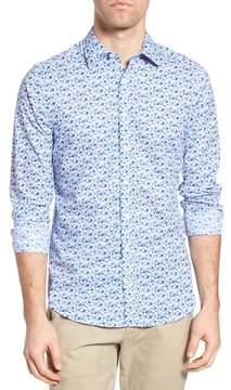 Gant Flower Print Fitted Sport Shirt