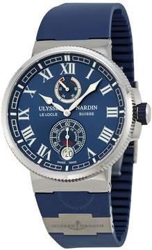 Ulysse Nardin Marine Chronometer Automatic Blue Dial Blue Rubber Men's Watch
