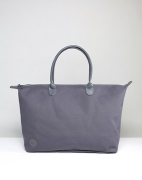 Mi-Pac Canvas Weekender Bag in Charcoal Canvas