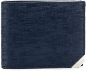 Bally textured flip wallet