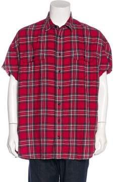 R 13 2017 Distressed Plaid Shirt