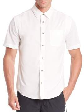Madison Supply Short Sleeve Button-Front Shirt