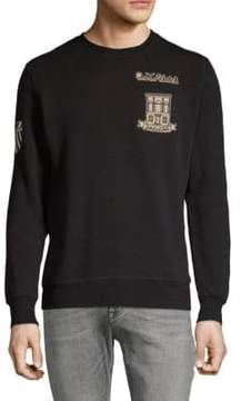 Scotch & Soda Embroidered Patchwork Sweatshirt