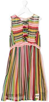 No.21 Kids TEEN striped midi dress