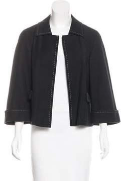 Rena Lange Open Front Woven Jacket