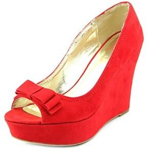 Material Girl Debbie Women Open Toe Synthetic Wedge Heel.