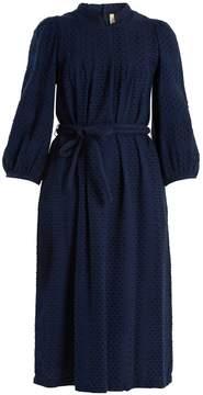 Ace&Jig Lyon tie-waist cotton fil coupé dress
