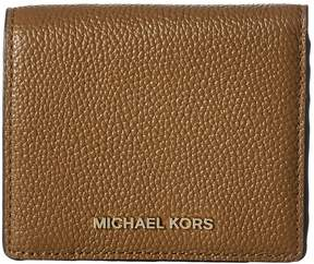 MICHAEL Michael Kors Mercer Carryall Card Case Credit card Wallet - BLACK - STYLE