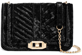 Urban Expressions Crystal Quilted Velvet Crossbody