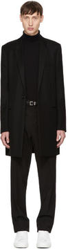 Saint Laurent Black Chesterfield Peak Lapel Coat