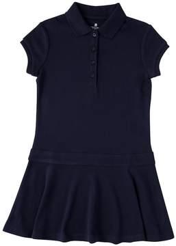 Chaps Girls 4-6x School Uniform Short Sleeve Polo Shirt Dress