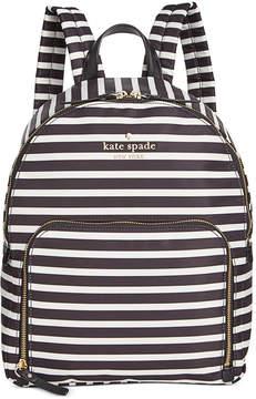 Kate Spade Watson Lane Hartley Backpack - BLACK/CLOTTED CREAM - STYLE