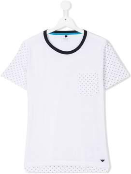 Emporio Armani Kids monogram detail T-shirt