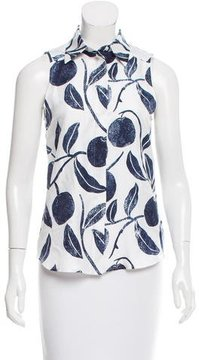 Draper James Printed Silk Top w/ Tags