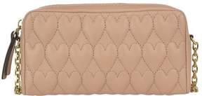 RED Valentino Heart Embossed Clutch