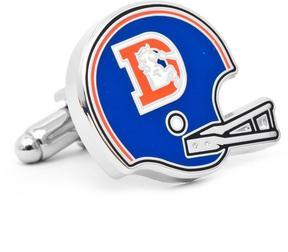 Ice Retro Denver Broncos Helmet Cufflinks