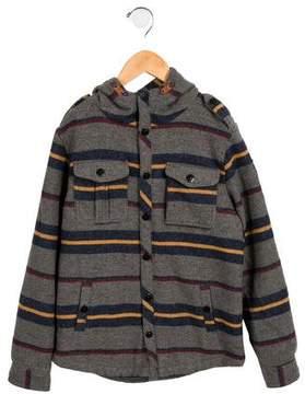 Scotch Shrunk Boys' Hooded Donegal Knit Coat